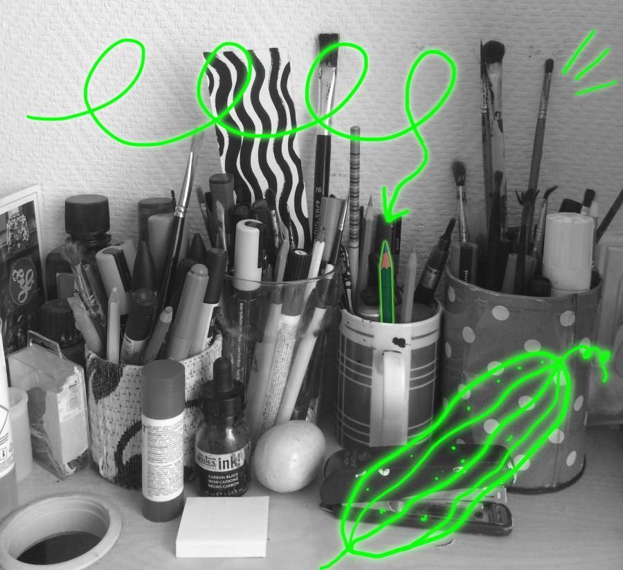 Green Watercolour Pencil