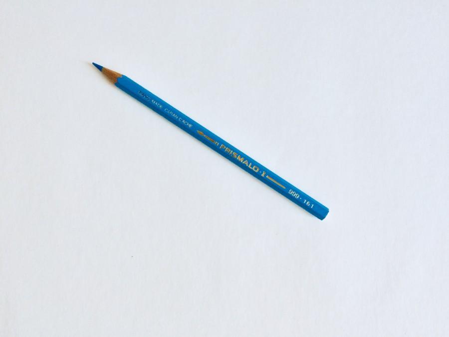 Blue Watercolour Pencil
